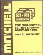 1982 Mitchell Emission Control Service Repair Supplement Domestic Cars