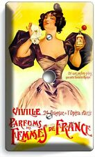 PARIS PERFUME ADD VITAGE POSTER VIDEO CABLE WALL PLATE COVER BEAUTY SALON DECOR