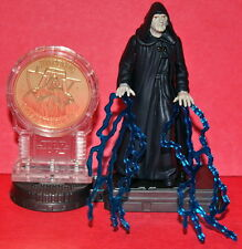 STAR WARS POTF-2 EMPEROR PALPATINE COIN & STAND LOOSE COMPLETE