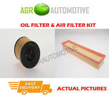 PETROL SERVICE KIT OIL AIR FILTER FOR PEUGEOT 206 CC 1.6 109 BHP 2004-07