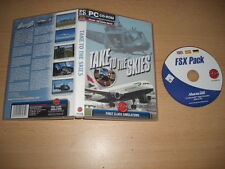 TAKE TO THE SKIES Pc Cd Rom Add-On Microsoft Flight Simulator Sim FS2004 & FSX