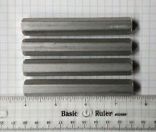 """STANDOFFS 4 @ 1/2"""" X 3-1/2"""" Hex Tapped 1/4-20 New Aluminum OR Customized to spec"""