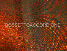 """Accordion Grille Lining SOFT WIRE DUST CLOTH RED BLACK 18""""x7"""" Import from Italy"""