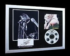 AEROSMITH+STEVEN TYLER+SIGNED+FRAMED=100% AUTHENTIC+GRIP+EXPRESS GLOBAL SHIPPING