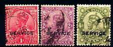 INDIA INGLESE - 1912 - Francobolli di Servizio. Re Giorgio V.