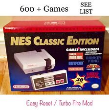 NES Classic Mini Nintendo Console NEW * MODDED * Hacked Mod 600+ Games See List!