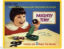 Mighty Tiny Record Player Ohio Art  Refrigerator / Locker  Magnet