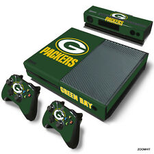 Xbox One Console Skin Decal Sticker Green Bay Packers + 2 Controller Skins Set