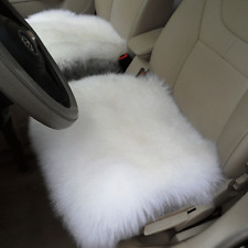 "Sheepskin Car Seat Covers Genuine Long Wool Chair cushion 18''×18"" WHITE 1PC"