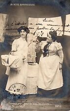BK379 Carte Photo vintage card RPPC Femme woman Blanchisseuse linge panier