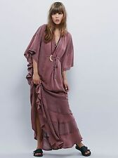 New $128 Free People Endless Summer Oh Valencia Caftan Maxi Dress Sz Small- Fawn