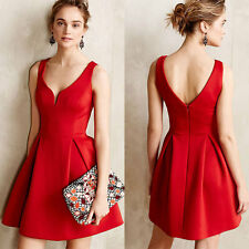 Women Sexy Casual Sleeveless Evening Party Cocktail Short Mini Skater Dress