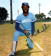 Willie Wilson Autographed Photograph with COA