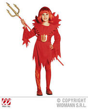 Childrens Deluxe Red Devil Fancy Dress Costume Halloween Outfit 5-7 Yrs