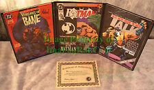 BATMAN VENGEANCE OF BANE #1 Autographed COA Nolan Dixon BATMAN 497 Binder +++