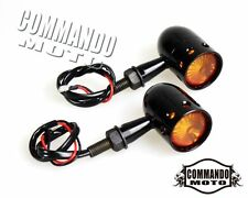 LED Turn Signal Light Indicator Lamp Blinker For Flyrite Choppers Bobber Black