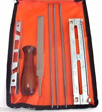ILLINOIS INDUSTRIAL 7pc CHAINSAW CHAIN SHARPENING KIT 29510 FILES 5/32 3/16 7/32