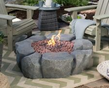 "Outdoor Fire Pit Propane Patio Stone Deck Fireplace Heater Burning Yard 41"" Bowl"