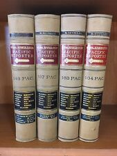 1915-1917 Vintage Lot of 4 Pacific Reporter LAW BOOKS  Decorative Set~Staging