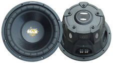 1 New Lanzar MAXP104D Max Pro 10'' 1200Watt Small Enclosure Dual 4 Ohm Subwoofer