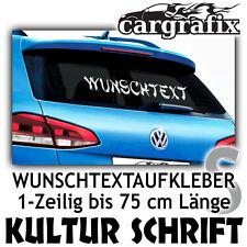Wunschtext Autoaufkleber Spruch Schriftzug Klebebuchstaben Kulturelle Schriften