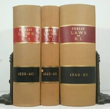 1939~Public Laws of State of RI~3 LAW BOOK SET~Old Decorative Vintage Lot