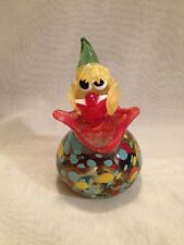 LARGE VINTAGE MURANO CLOWN PAPERWEIGHT with copper inclusions
