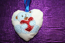 Padded Heart featuring an Applique Teddy with a Heart