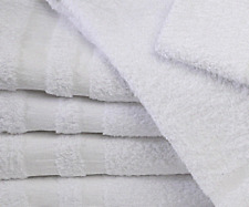 24 NEW WHITE 22x44 COTTON SALON BATH TOWELS GYM TANNING BEST DEAL B GRADE