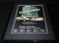 1986 Bergen Passaic Chevy Trucks R Us 11x14 Framed ORIGINAL Advertisement