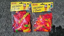 ** BRAND NEW ** EVERTS 200 WATER BOMBS BALLOONS - MIXED COLOURS