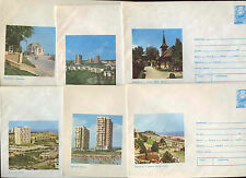 Romania 1975, 6 Unused Stationery Pre-Paid Envelopes Covers #C21417