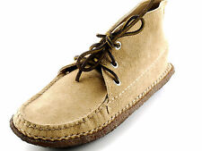 Lt. Beige Women's QUODDY Suede Mocassin Chukka Ankle Boots 6 Made in MAINE USA