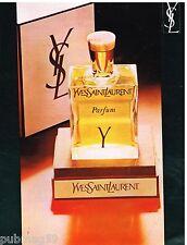 Publicité Advertising 1972 Parfum Y par Yves Saint Laurent