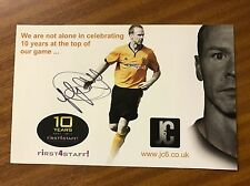 Jody Craddock Hand Signed Promo Card Wolves Wolverhampton Wanderers
