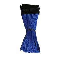 30cm 24-pin male to 24-pin female ATX 24-Pin Extension Braided Cable Blue Lead