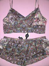 Victorias Secret DESIGNER COLLECTION Silk Camisole Short Lot PJ Pajama S NWT
