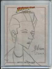 Indiana Jones 2008 Topps Artist Sketch Card #1/1 By Howard Shum