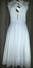 Marc By Marc Jacobs NWT Size L Grey & Gold Spec Halter Dress Out of Stock Item