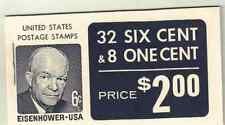 Scott # 1393/1278.. BK 119...Eisenhower..40 Stamps..32x 6 cent + 8x1 cent @FV+$1