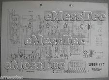WEGA tipo 330 radio schema elettrico, stand 08/62