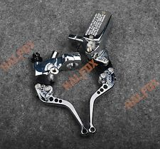 "1"" Chrome Brake Master Cylinder Clutch Levers Yamaha Roadstar 1600 1700 Virago"