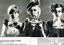 PUBLICITE ADVERTISING 055  1968  EVIAN  eau minérale ( 2 pages)