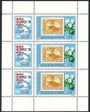 Hungary 1978 Beaver/Animals/Nature/Capex/StampEx/S-on-S/UPU 3v m/s (n40303)
