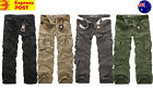 Mens Cargo Pants Casual Military Combat Army Outdoor Pants size 33-40
