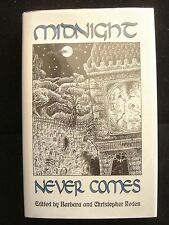 MIDNIGHT NEVER COMES Ghost Stories Horror Scarce DJ SIGNED Bookplate Ex Libris