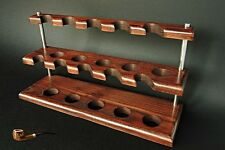 HAND MADE  EXCLUSIVE  WOODEN STAND RACK  HOLDER  DISPLAY  for 10 Smoking Pipes