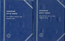 """Whitman Obsolete """"Canadian Fifty Cent"""" Coin Folder 9070 & 9071 New Condition"""