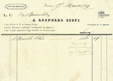 Mercanzie di Leopoldo Ciofi in Via del Braccio a Firenze Vendita di Olio 1859