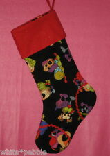 Handmade Decorative Christmas Stocking For Pet - Playful Dogs - Red